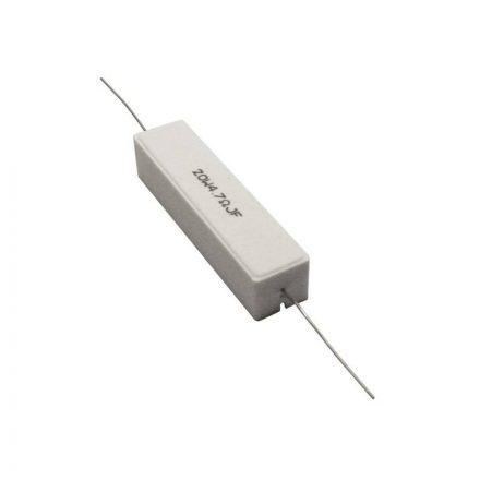 Kerámia huzalellenállás 10,00Ω 20W 5% méret.61/15/15mm - Hangfal/Hangfalépítés/Ellenállás/20W k