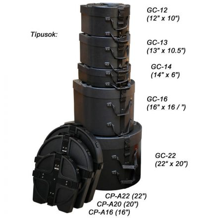 """GC-16 ABS dob tok, 16x16 5/8"""" - Több.../Hangszertok"""""""