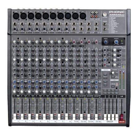 AM844D USB, keverő, 8 monó + 4 sztereó csatorna, 4 sub, effekt, USB - Keverő/Keverő, PA és Hang