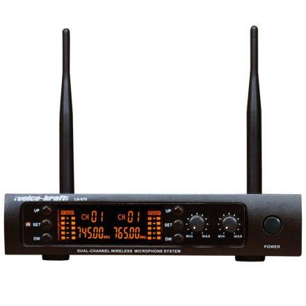 LS-970 UHF zsebadós mikrofon szett 2 db csíptetős mikrofonnal - Vezeték nélkül/Vezeték nélküli