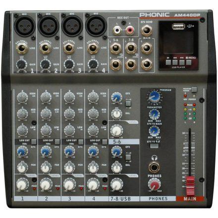 AM440DP keverő, 4 monó / 2 sztereó csatorna, 16EFX, USB lejátszó - Keverő/Keverő, PA és Hangrög
