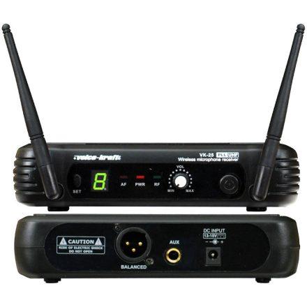 VK-25/HT-25A UHF diversity kézi mikrofon szett - Vezeték nélkül/Vezeték nélküli kézi mikrofonos
