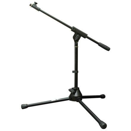 V-MS009 Alacsony mikrofon állvány(50 cm), teleszkópos gémmel, fekete - Állvány/Mikrofonhoz/Föld