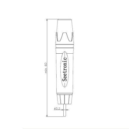 STP3C sztereo 3,5 Jack dugó, fémházas - Kábel, csatl./Csatlakozó/Jack 3,5 mm csatlakozó