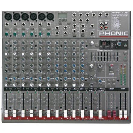 AM642DP 6 mono / 4 stereo csatorna / 2 sub / effekt / USB lejátszó - Keverő/Keverő, PA és Hangr