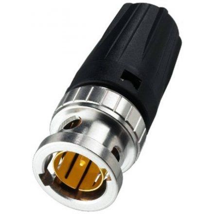 NBNC75BFG7 Rear Twist BNC lengő dugó, 75 Ohm, 0.6/2.8 AF kábelhez, Hex crimp 5,00 mm - Kábel, c