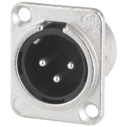NC3MDL1 3 pólusú XLR dugó ezüstözött érintkező, - Kábel, csatl./Csatlakozó/XLR csatlakozó