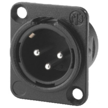 NC3MDL1BAG 3 pólusú XLR dugó ezüstözött érintkező, fekete - Kábel, csatl./Csatlakozó/XLR csatla