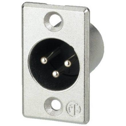 NC3MP 3 pólusú XLR dugó ezüstözött érintkező, - Kábel, csatl./Csatlakozó/XLR csatlakozó