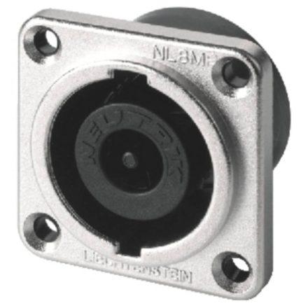 NL8MPR 8 pólusú hangfalcsatlakozó beépíthető, kerek házzal - Kábel, csatl./Csatlakozó/Speakon c