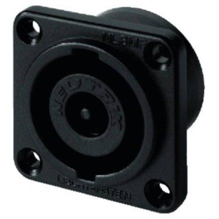 NL8MPRBAG 8 pólusú hangfalcsatlakozó fekete előlappal, beépíthető, kerek házzal - Kábel, csatl.