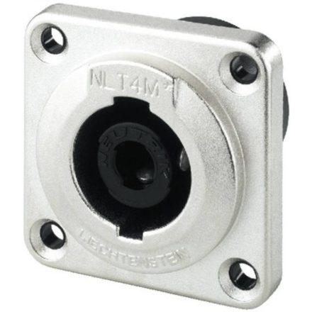 NLT4MP 4 pólusú hangfalcsatlakozó beépíthető dugó, fém házas, - Kábel, csatl./Csatlakozó/Speako