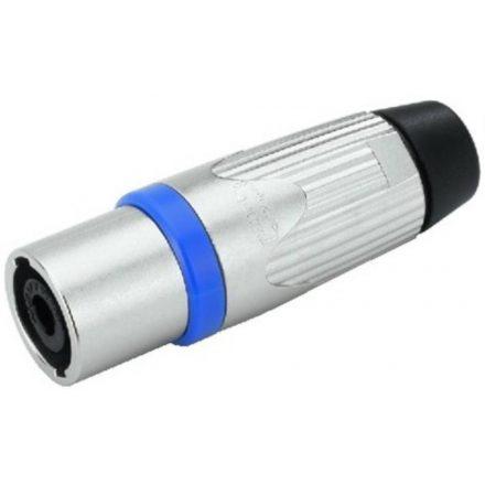 NLT4MX 4 pólusú hangfalcsatlakozó lengő dugó, fém házas, - Kábel, csatl./Csatlakozó/Speakon csa