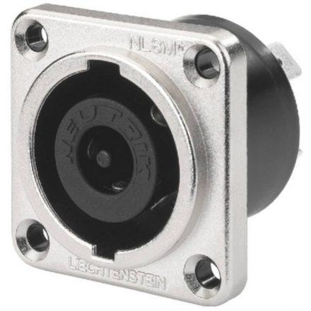 NLT8MP 8 pólusú hangfalcsatlakozó beépíthető dugó, fém házas, - Kábel, csatl./Csatlakozó/Speako
