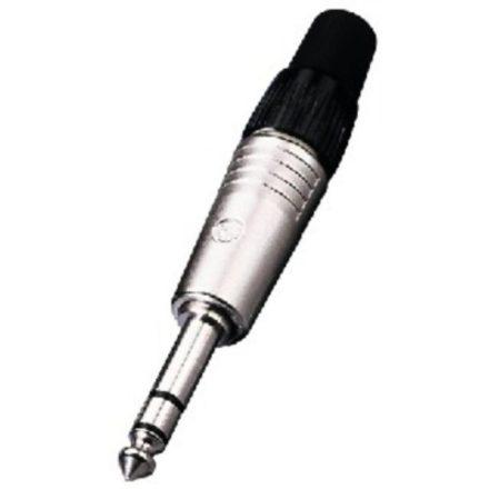 NP3C 6,3-as sztereó Jack dugó fényes házzal - Kábel, csatl./Csatlakozó/Jack 6,3mm csatlakozó